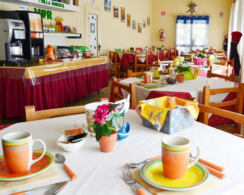 veduta sala colazioni